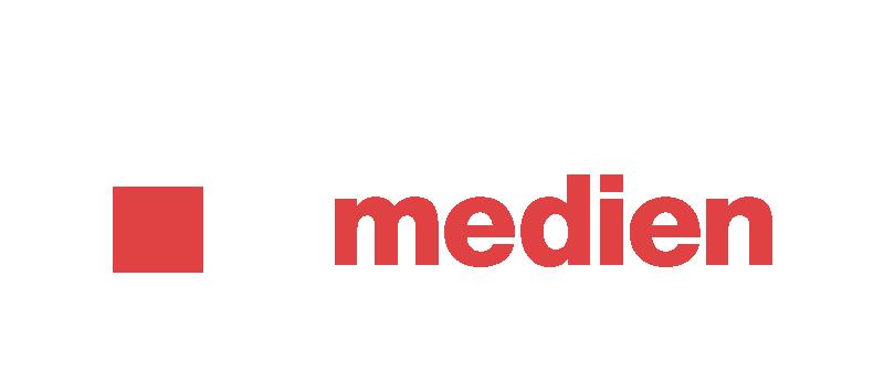 Strohmeier Medien Logo weiss